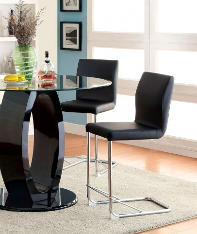 Lodia II Black Leatherette Counter Height Chair