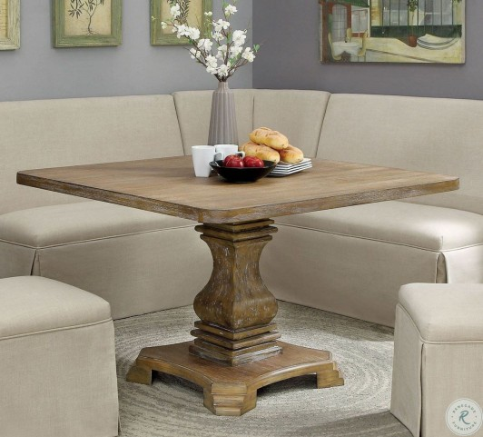 Nerissa Antique Oak Square Dining Table