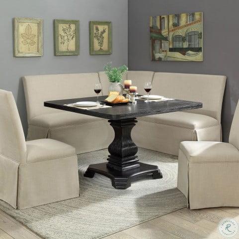 Nerissa Antique Black Square Dining Table