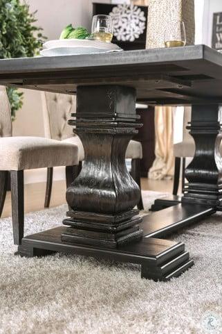 Nerissa Antique Black Dining Table