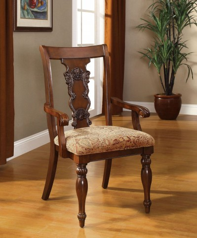 Seymour Dark Oak Arm Chair Set of 2