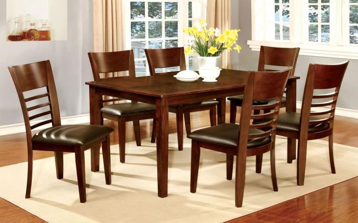 Hillsview I Brown Cherry Rectangular Leg Dining Room Set