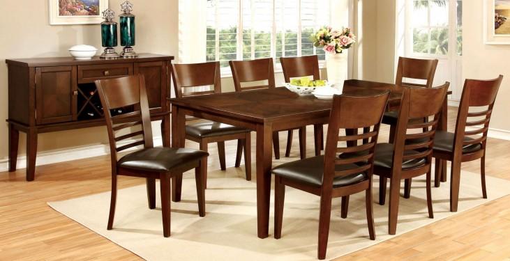 Hillsview I Brown Cherry Rectangular Extendable Leg Dining Room Set
