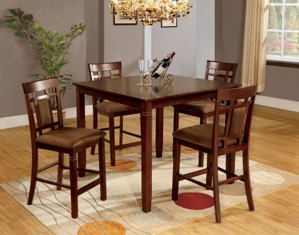 Montclair II 5 Piece Counter Height Table Set