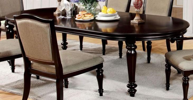Harrington Dark Walnut Oval Extendable Leg Dining Table