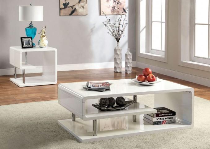 Ninove I White High Gloss Occasional Table Set