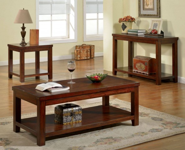Estell Cherry Occasional Table Set