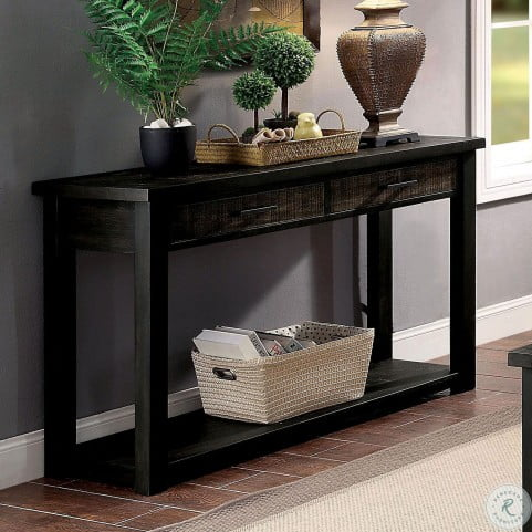 Rhymney Dark Oak Sofa Table