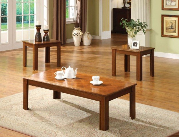 Town Square II Oak 3 Piece Occasional Table Set