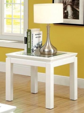 Venta White End Table