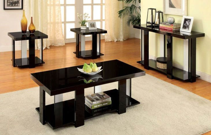 Lakoti I Black 3 Piece Occasional Table Set