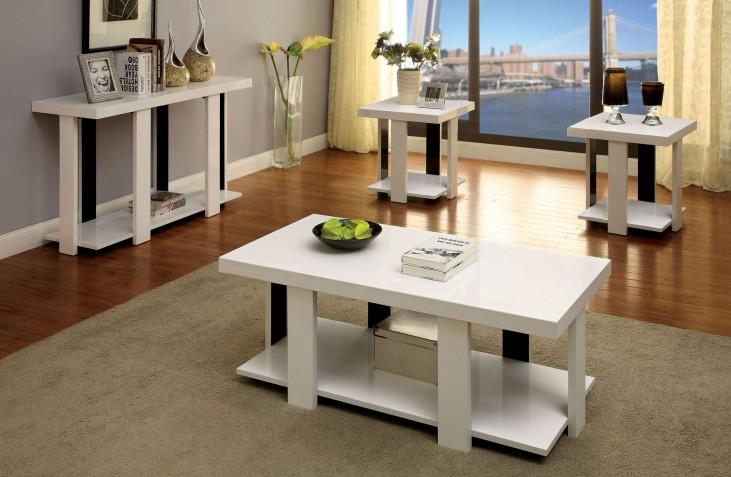 Lakoti I White 3 Piece Occasional Table Set