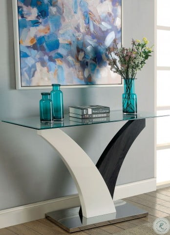 Sloane White and Dark Gray Sofa Table