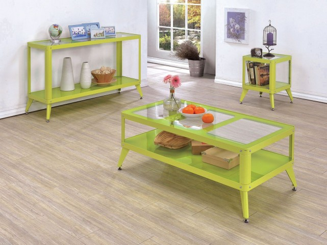 Vibber Apple Green Occasional Table Set