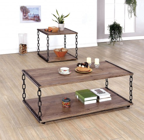 Cheyanne Black and Silver Occasional Table Set