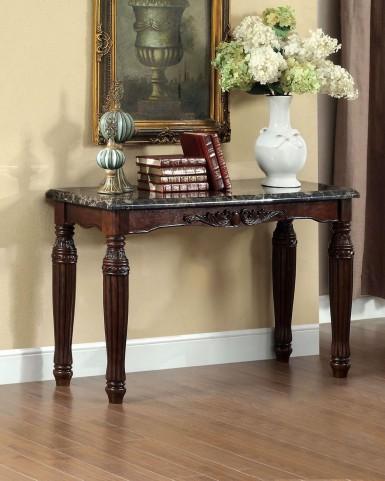Brampton Dark Walnut Faux Marble Top Sofa Table