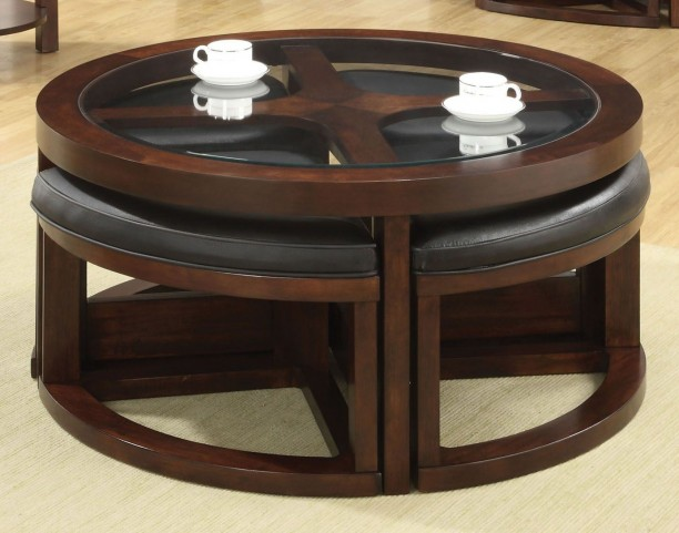 Crystal Cove II Glass-Insert Round Coffee Table