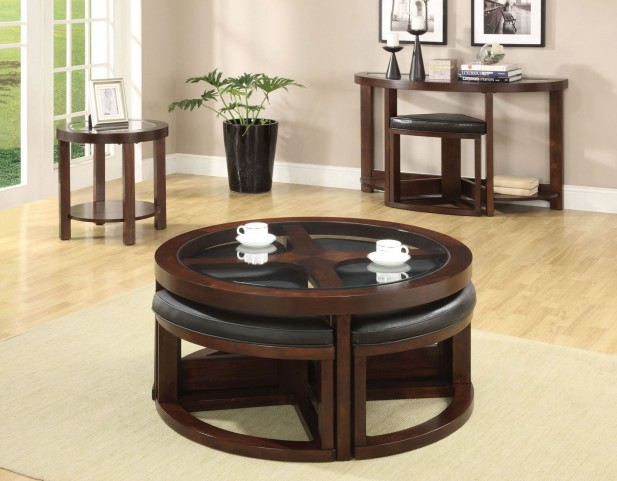 Crystal Cove II Glass-Insert Occasional Table Set