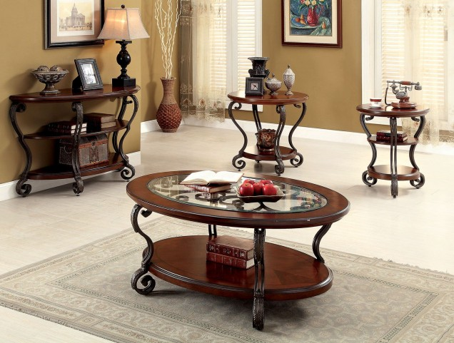 May Brown Cherry Occasional Table Set