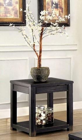 Meadow Antique Black End Table