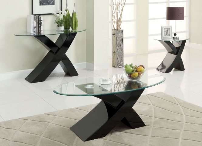 Xtres Black Occasional Table Set