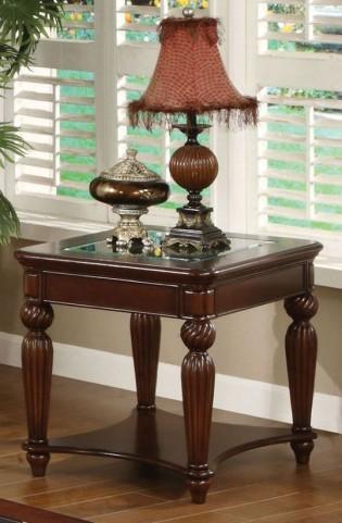 Windsor Glass-Insert End Table