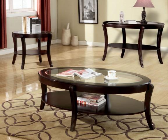 Finley Espresso Occasional Table Set