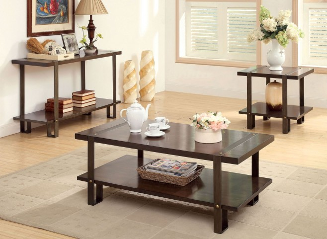 Arbor Dark Oak Occasional Table Set