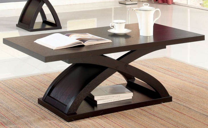 Arkley Espresso Rectangular Coffee Table