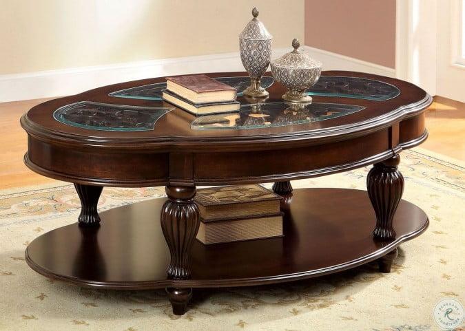 Cherry Coffee Table.Centinel Dark Cherry Coffee Table