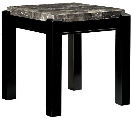 Gladstone Gray Marble Top End Table