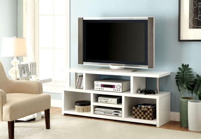 """Evere 60"""" White TV Console"""