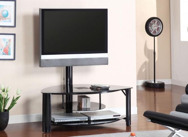 "Fendy 50"" Black Glass Top TV Console"