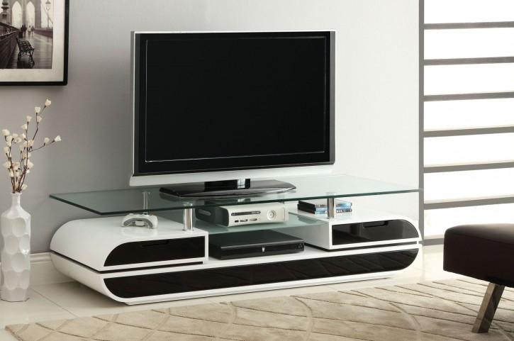 """Evos 63"""" Glass Top TV Console"""