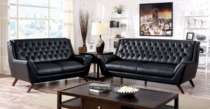 Leia Black Living Room Set