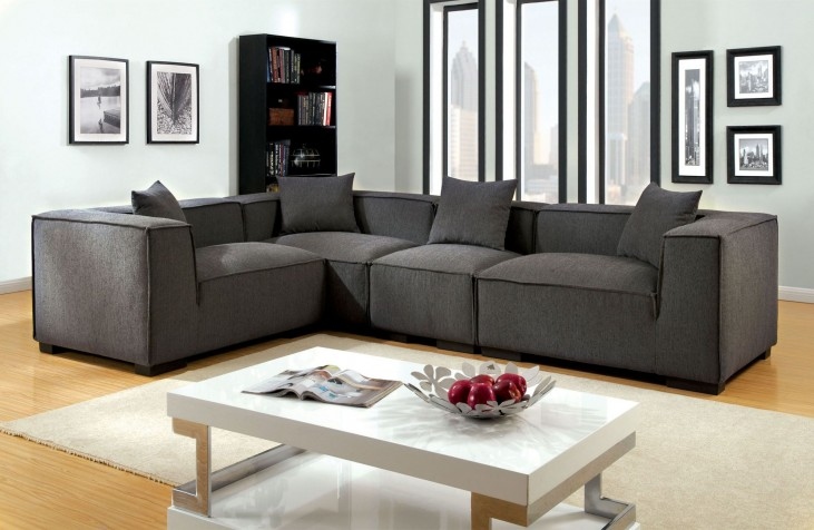 Langdon Gray Fabric Sectional