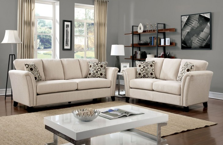 Campbell Ivory Living Room Set