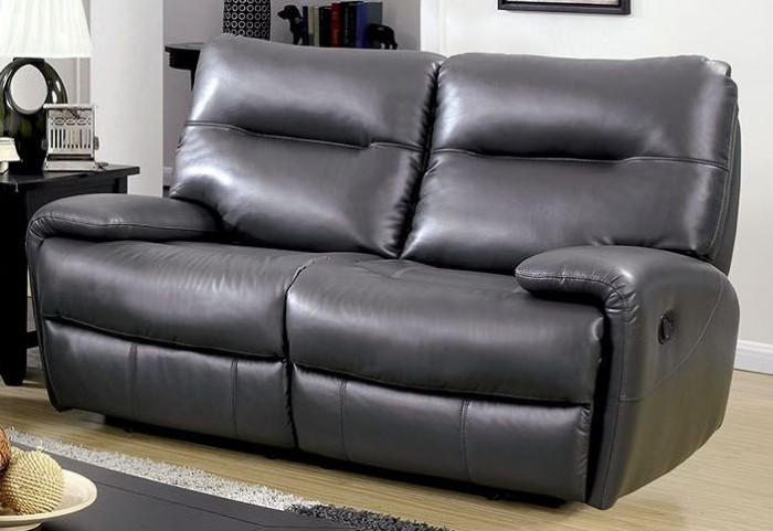 Binford Gray Loveseat With 2 Recliners