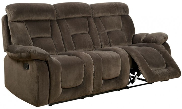 Bloomington Brown Reclining Sofa