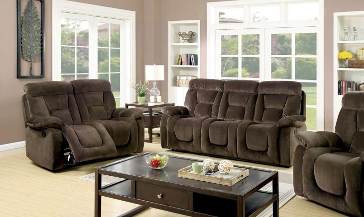 Bloomington Brown Reclining Living Room Set