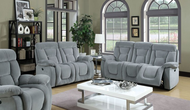 Bloomington Gray Power Reclining Living Room Set