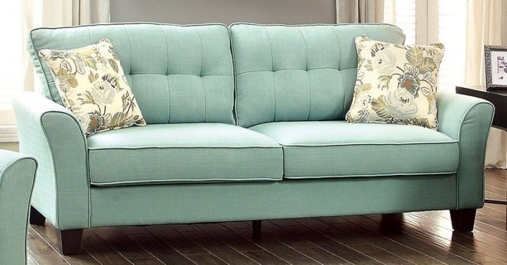 Claire Blue Fabric Sofa