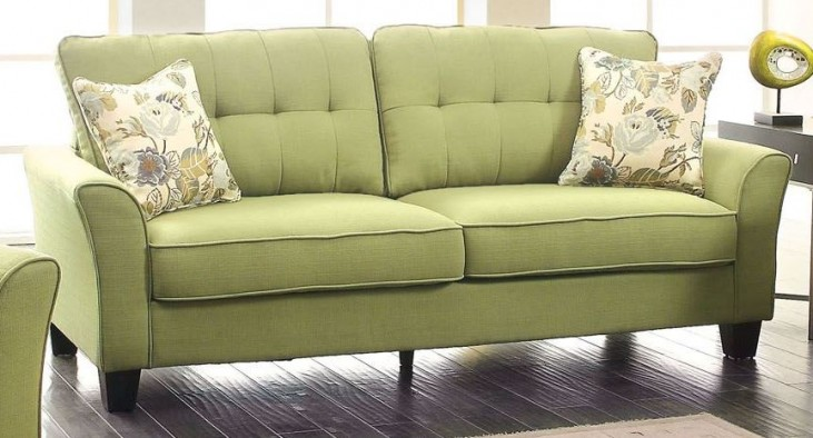 Claire Green Fabric Sofa