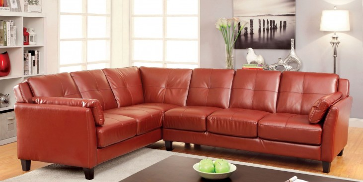 Peever Mahogany Red Sectional