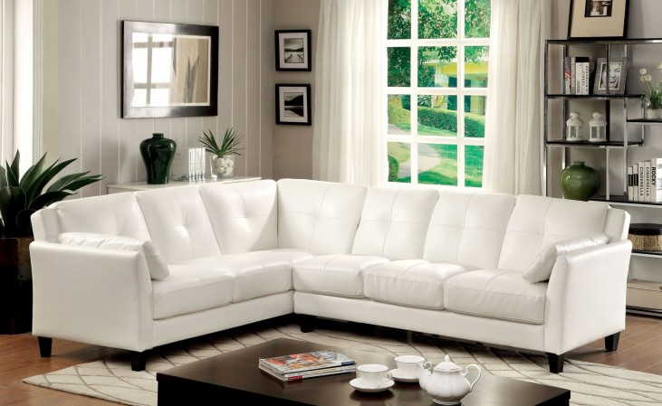 Peever White Sectional