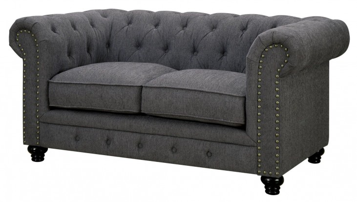 Stanford Gray Fabric Loveseat