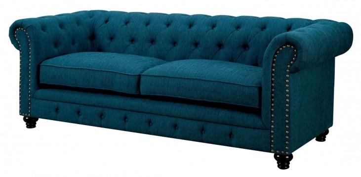 Stanford Dark Teal Fabric Sofa