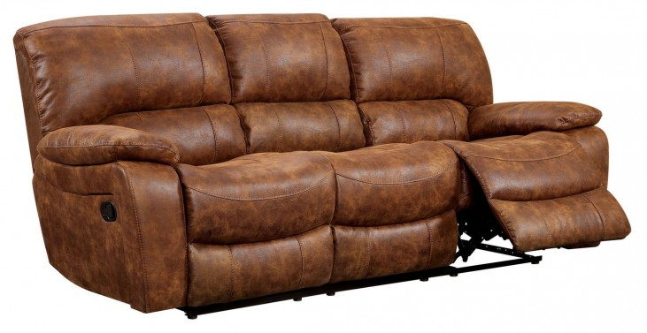 Wagner Leatherette Reclining Sofa
