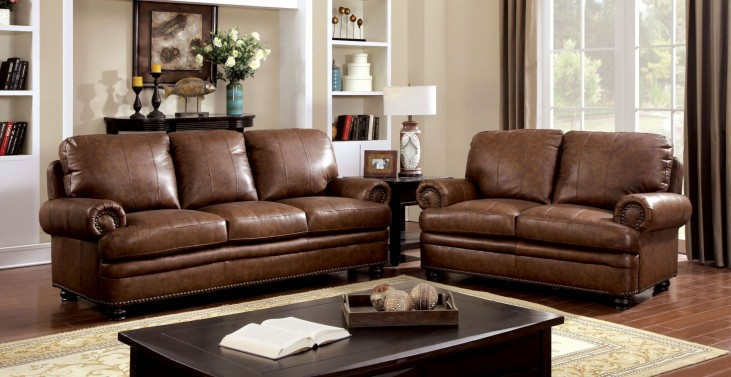 Rheinhardt Top Grain Leather Living Room Set