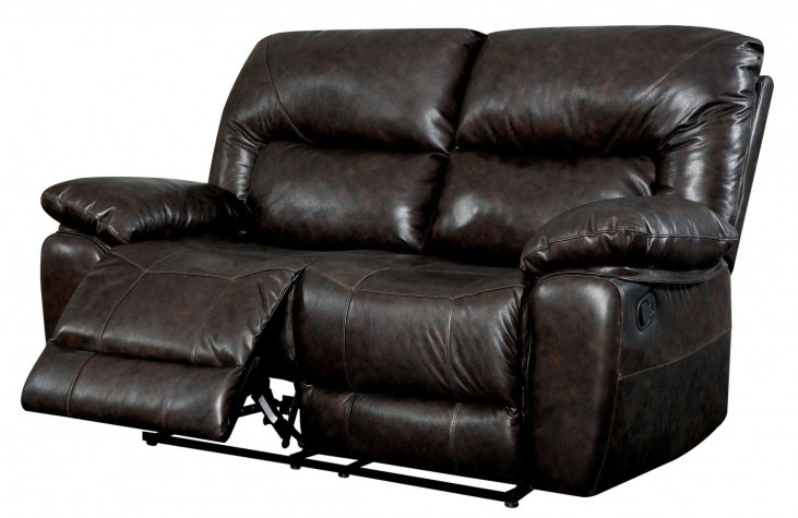 Stallion Top Grain Leather Match Reclining Loveseat